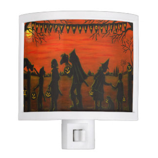 Halloween silhouette night light