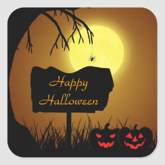 Halloween Silhouette Sign - Sticker