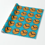 Halloween Silhouettes Bat Wrapping Paper