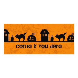 Halloween silhouettes card