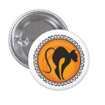 Halloween Silhouettes Cat Badge 1 Inch Round Button