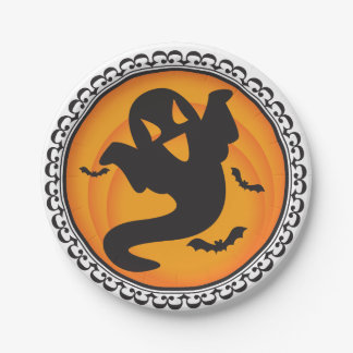 Halloween Silhouettes Ghost Paper Plates