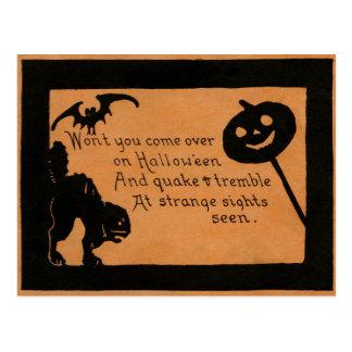 Halloween Silhouettes Postcard