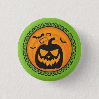 Halloween Silhouettes Pumpkin Badge Button