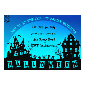 Halloween Sillouettes Party Custom Invitations