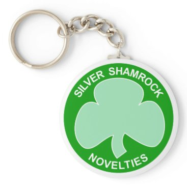 Halloween Themed Halloween Silver Shamrock Logo Keychain