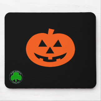 Halloween Silver Shamrock Mouse Pad