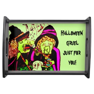 HALLOWEEN SINGING WITCHES tray Serving Tray