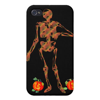Halloween Skeleton and Pumpkins Covers For iPhone 4