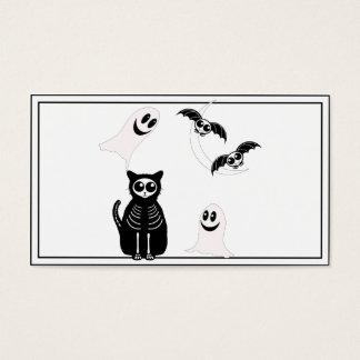 Halloween Skeleton Animals Gang Business Card