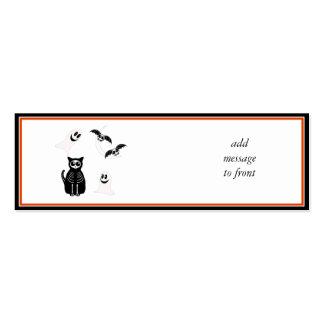 Halloween Skeleton Animals Gang Mini Business Card