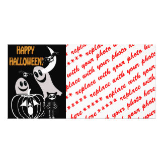 Halloween Skeleton Animals Gang Personalized Photo Card