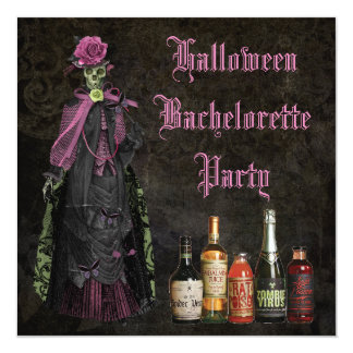 Halloween Skeleton Bride Bachelorette Party Card