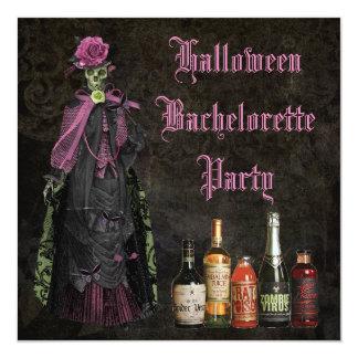 Halloween Skeleton Bride Bachelorette Party Card