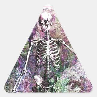 Halloween Skeleton & Cherub Triangle Sticker