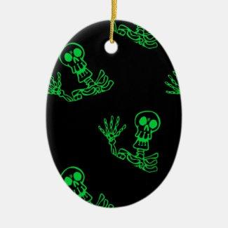 Halloween Skeleton Christmas Ornaments