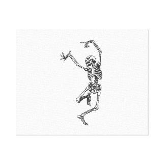 Halloween Skeleton Dancing Canvas Prints