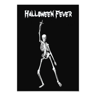 Halloween Skeleton Fever Costume Party Invitation