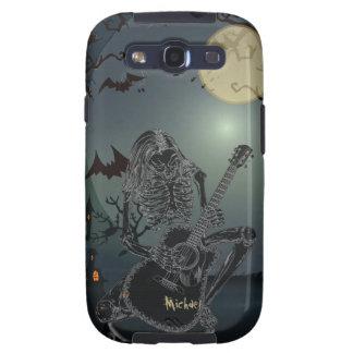 Halloween Skeleton Guitarist Singer Samsung S3 Cas Samsung Galaxy S3 Case