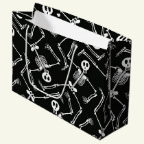 Halloween skeleton large gift bag