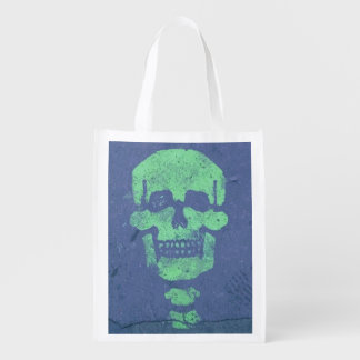 Halloween Skeleton, Paris Grocery Bag