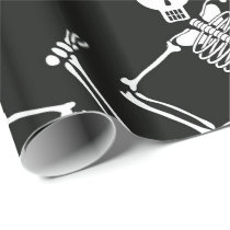 Halloween Skeleton pattern wrapping paper