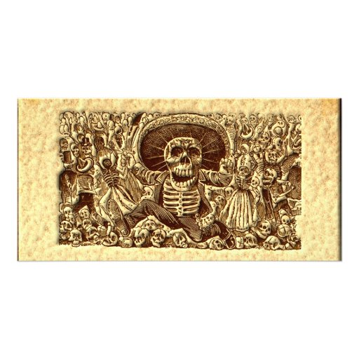 Halloween Skeleton Pirate Personalized Photo Card