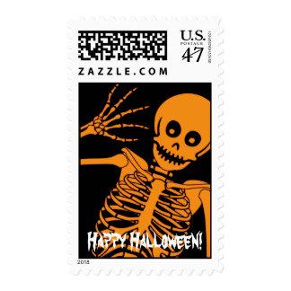 Halloween Skeleton! Postage