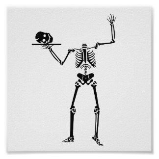 Halloween Skeleton Poster
