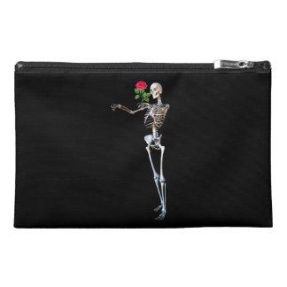 Halloween Skeleton Rose Travel Accessories Bags