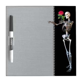 Halloween Skeleton Rose Dry Erase Boards