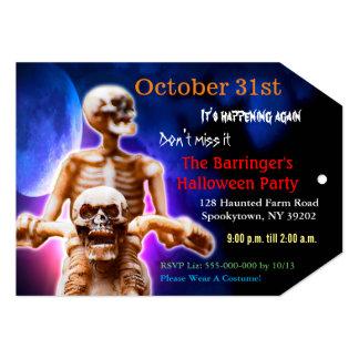 Halloween Skeleton Scary Night Rider Invitation