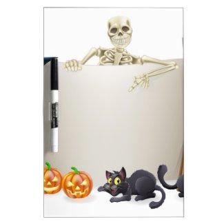 Halloween Skeleton Scroll Dry Erase Whiteboards