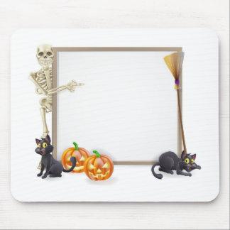 Halloween Skeleton Sign Mousemats