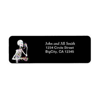 Halloween Skeleton Treats Label