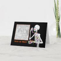 Halloween Skeleton Treats (photo frame) Card