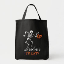 Halloween Skeleton Trick or Treat Bag