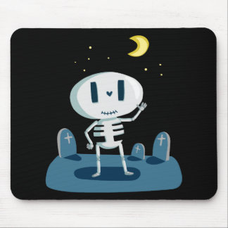 Halloween Skeleton Waving Great Gift for Halloween Mouse Pad
