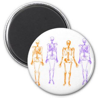 Halloween Skeletons 2 Inch Round Magnet