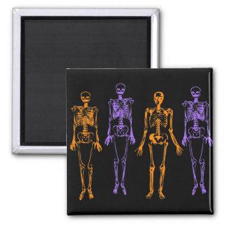 Halloween Skeletons 2 Inch Square Magnet