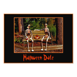 Halloween Skeletons Date Invitation