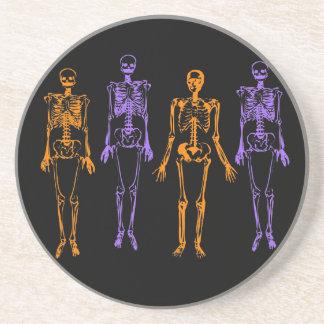 Halloween Skeletons Drink Coaster