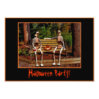 Halloween Skeletons Invitation