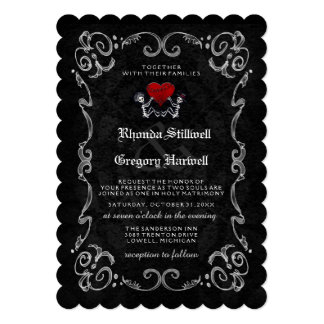 "Halloween Skeletons ""TOGETHER WITH"" & RECEPTION Card"