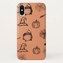 Halloween sketch design iPhone x case