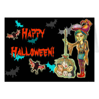 Halloween - Skinny Witch Stationery Note Card