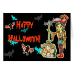 Halloween - Skinny Witch Greeting Card