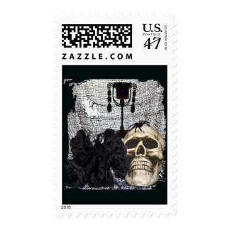 Halloween Skull-008 Postage