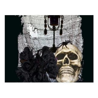 Halloween Skull-008 Postcard