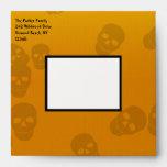 """Halloween Skull 5.25"""" Square Envelope"""